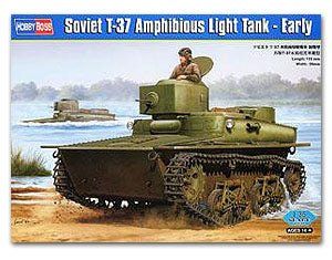 Hobby Boss 1/35 scale tank models 83818 Soviet T-37 amphibious light chariot pre-type