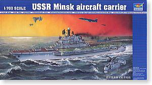 "Trumpeter 1/700 scale model 05703 Soviet Navy Kiev class ""Minsk"" aircraft carriera"