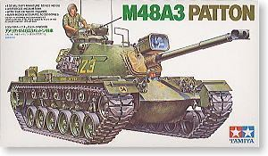 "TAMIYA 1/35 scale models 35120 M48A3 ""Barton"" medium chariot"