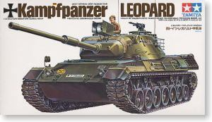 TAMIYA 1/35 scale models 35064 German leopard main battle tanks