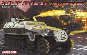 1/35 scale model Dragon 6864 Sd.Kfz.251 / 16 Ausf.C semi-tracked firearms armored vehicles