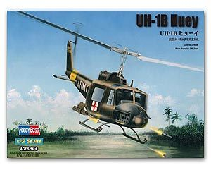 Hobby Boss 1/72 scale helicopter model aircraft 87228 UH-1B Iloquois Universal Helicopter