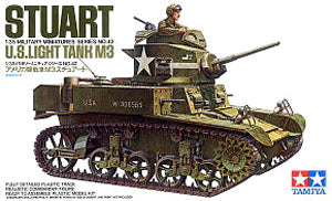 "TAMIYA 1/35 scale models 35042 World War II US M3 ""Stuart"" light chariot"