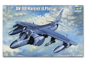Trumpeter 1/32 scale model 02286 AV-8B Harrier II + carrier attack aircrafta *