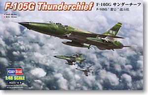"Hobby Boss 1/48 scale aircraft models 80333 F-105G Thunderchief air defense attack aircrafts ""wild weasel"""