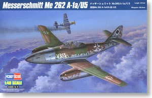 Hobby Boss 1/48 scale aircraft models 80373 Meissemite Me262A-1a / U5 Fighter Heavy Fire Type *