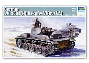 Trumpeter 1/35 scale model 01515 World War II Germany VK3001 (H) No. 6 chariot type A