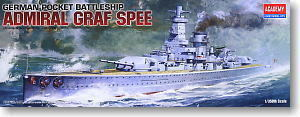 "ACADEMY 14103 German Navy ""Graf. Spey Admiral"" pocket battleship"