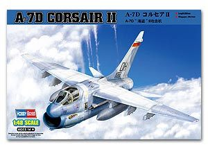 "Hobby Boss 1/48 scale aircraft models 80344 A-7D ""Pirate II"" attack aircrafts Corsair II"