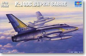 Trumpeter 1/48 scale model 02838 F-100C Super Pepper Fighter