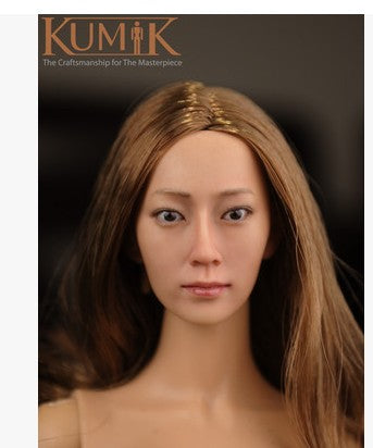 KNL HOBBY KUMIK 16-14 1/6 female head sculpt yellow hair spot for action figures