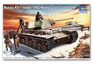 Trumpeter 1/35 scale model 00359 KV-1 heavy truck 1942 heavy cast turret type