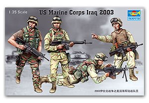 Trumpeter 1/35 scale solider figure model 00407 US Marine Corps Iraq 2003