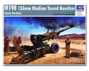 Trumpeter 1/35 scale model 02306 US M198 155MM Medium Towed howitzera early version