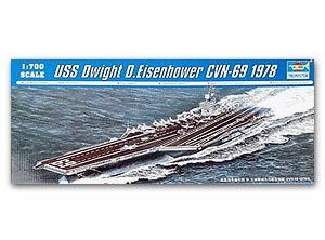 Trumpeter 1/700 scale model 05753 Minimiz CVN-69 Eisenhower aircraft carriera
