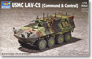 Trumpeter 1/72 scale model 07270 US Marine Corps LAV-C2 wheeled armored vehicle communication command type