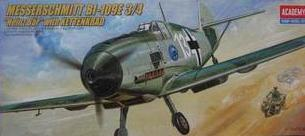 ACADEMY 2214 Bf109E-3/4 and semi-tropical fighter motorcycle track ground traction