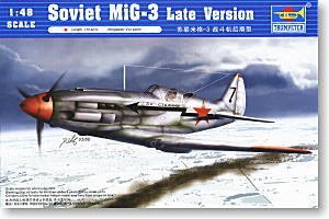 Trumpeter 1/48 scale model 02831 Soviet MiG-3 fighter late type