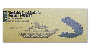 Trumpeter 1/35 scale model 02064 T-90 Series Main Combat Tank with Movable Linked Track