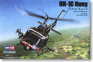 "Hobby Boss 1/72 scale helicopter model aircraft 87229 UH-1C ""Iroquois "" universal helicopter gunboat type fire suppression type"