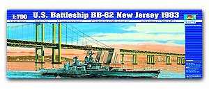 "Trumpeter 1/700 scale model 05702 US clothing Iowa BB-62 ""New Jersey"" battleship 1983"