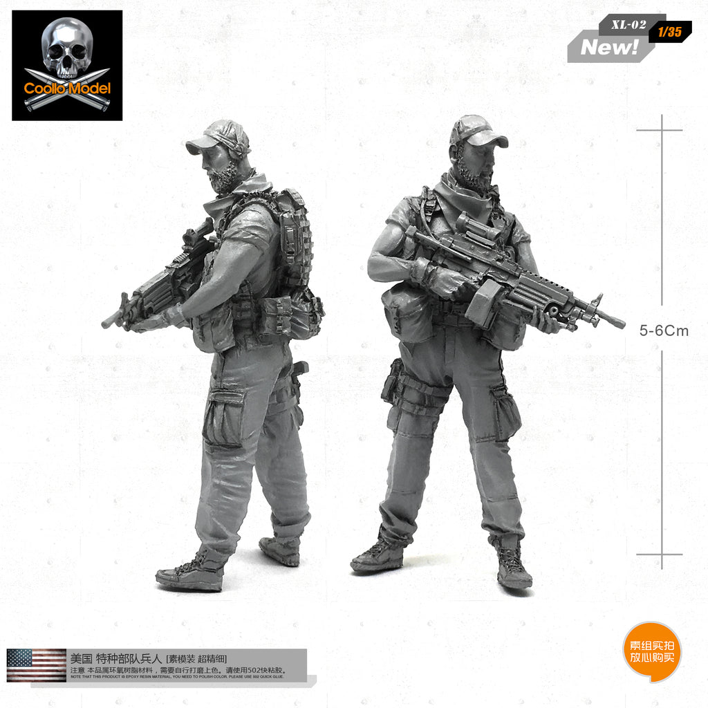 1/35 Army US Special Forces Resident Soldier Model XL-02