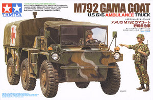 "TAMIYA 1/35 scale models 35342 US Army M792 ""Gamma Goat"" articulated all terrain ambulance"