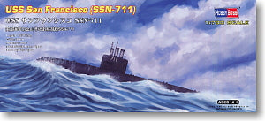 Hobby Boss 1/700 scale models 87015 Los Angeles SSN-711 San Francisco attack nuclear submarine