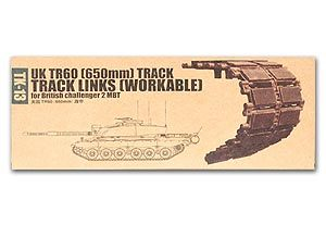 Trumpeter 1/35 scale model 02043 Challenger 2 Main Tan TR60 (650MM) Movable Linked Track