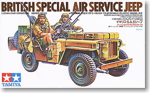 TAMIYA 1/35 scale models 35033 British special air service unit Willis remote assault off-road vehicle