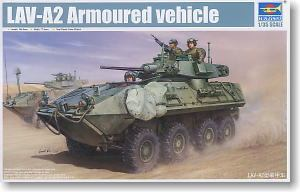 Trumpeter 1/35 scale model 01521 US Marine Corps LAV-A2 II 8X8 wheeled armored vehicles
