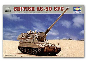 Trumpeter 1/72 scale tank models 07221 British Army AS-90 155mm self-propelled howitzera