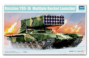 Trumpeter 1/35 scale tank model 05582 Russian TOS-1A Multiple Bocket Launcher heavy-duty flamethrower system