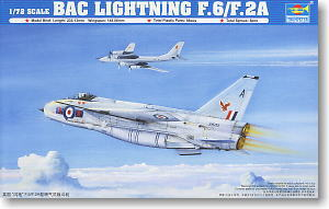 Trumpeter 1/72 scale model 01654 British Electric Lightning F.6 / F.2A fighter