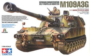 TAMIYA 37022 German Federal Defense Force M109A3G 155mm self-propelled howitzere
