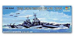 "Trumpeter 1/700 scale model 05725 US Navy CA-68 ""Baltimore"" Heavy Cruiser 1944"