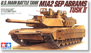 "TAMIYA 1/35 scale models 35326 M1A2 SEP ""Abrams"" TUSK II main battle tank"