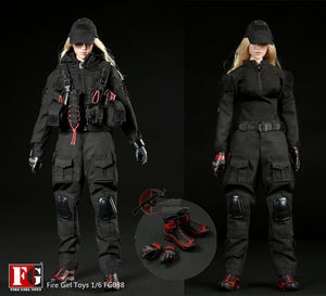 Spot Fire Girl Toys 1/6 FG038 Night Female Gunners Set Women Women Dolls Clothing Action Figures