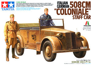 TAMIYA 37014 World War II Fiat 508 CM & quot; Colonial & quot; Small Officer Contact Car