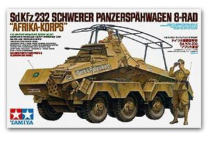 "TAMIYA 1/35 scale models 35297 Sd.Kfz.232 Remote Armored Reconnaissance Car ""African Legion"""