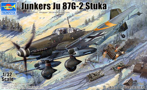 Trumpeter 1/32 scale model 03218 Juke Ju87G-2 Stuka anti-tank attack aircrafta