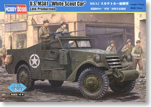 Hobby Boss 1/35 scale tank models 82452 US M3A1 light wheeled armored reconnaissance vehicle late type