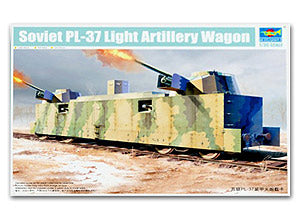 Trumpeter 1/35 scale model 00222 Soviet PL-37 armored train light artillery mounted type