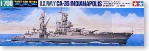 "TAMIYA 1/35 scale models 1/700 scale model 31804 U.S. Navy CA-35 ""Indianapolis"" heavy cruiser"