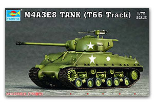 "Trumpeter 1/72 scale model 07225 M4A3E8""Sherman"" medium chariot"