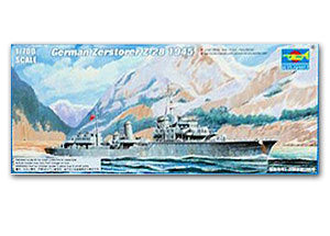 "Trumpeter 1/700 scale model 05790 German Navy Z-Class ""Z-28"" destroyer 1945"