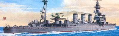 "TAMIYA 1/700 scale model 31321, Japanese Navy long well ""KINU"" light cruiser"
