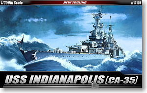 "ACADEMY 14107 US Navy CA-35 ""Indianapolis"" heavy cruiser"