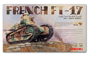 MENG TS-011 Renault FT-17 light tank turret type riveting