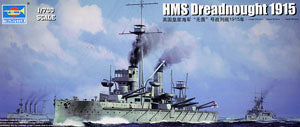 Trumpeter 1/350 scale model Trumpeter 06705 British Royal Navy Fightless Battleship 1915